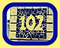 House Number in Mosaics