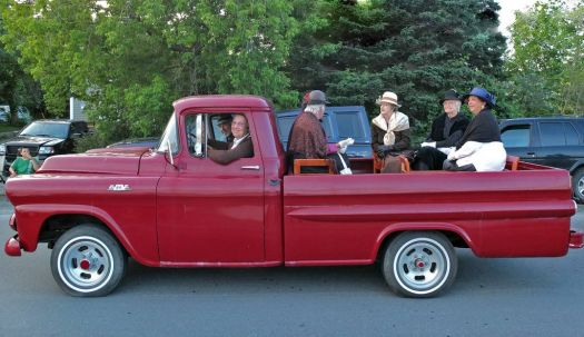 Heritage Society in Vintage Truck, Bay Roberts, NL