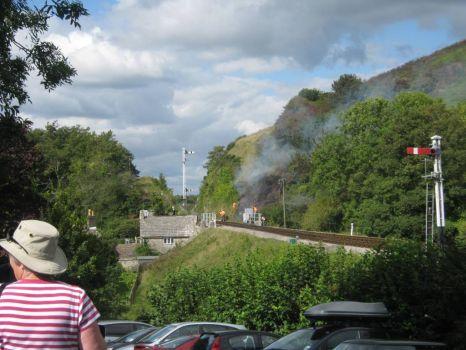 Fire at Corfe Castle 2