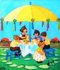 Tea Under an Enormous Umbrella