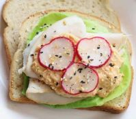 turkey radish sandwich