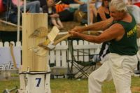 A+P show, wood chopping at Kumeu