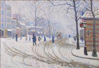 Paul Signac's Snow Boulevard de Clichy, Paris 1886