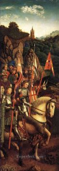 8-The-Ghent-Altarpiece-The-Soldiers-of-Christ-Renaissance-Jan-van-Eyck