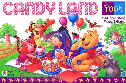Pooh in candy land