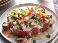 Chicken Potpie Tartine