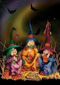Three fun witches