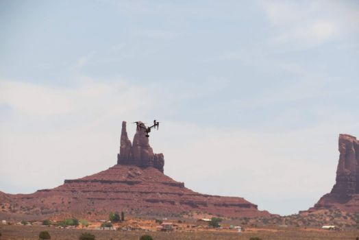 Drone Taking Pictures In Monument Valley
