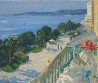 Sir John Lavery (British, 1856–1941), The Terrace, Cap d'Ail (1921)