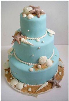 Unicorn beach cake