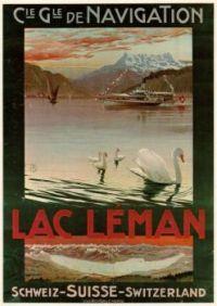 Lac Leman poster 1900