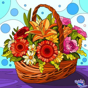 A Basket of Flowers for You