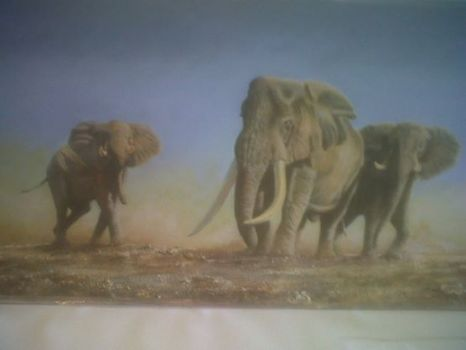 BYRONS PAINTING ELEPHANTS