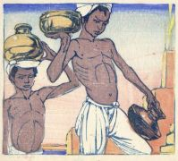 Mabel Royds' Water Carriers in Benares