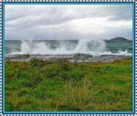 Stormy Lake Taupo.