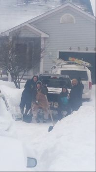 Shovelling snow in Ontario