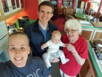 Spring 2016, visit from Jonah, my husband's first great grandson!