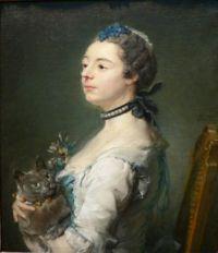 1747 Portrait of Magdaleine Pinceloup de la Grange, née de Parseval Jean-Baptiste Perronneau
