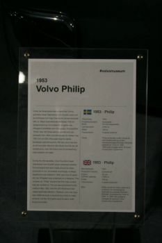 1953 Volvo Philip Sign at the Volvo Museum