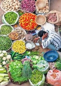 Vegetable Seller in Pushkar, India