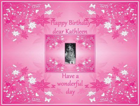 Ongekend Solve Happy Birthday dear Kathleen (Toto) jigsaw puzzle online QJ-24