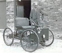 Henry Ford with his Quadricycle