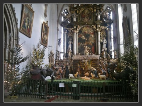 Betlem in the chapel of the Franciscan Monastery Plzen