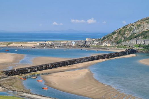 Barmouth and the viaduct