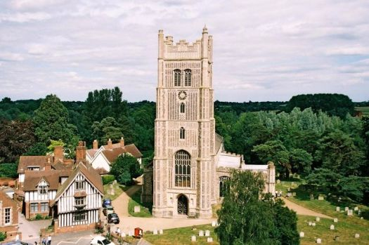 Parish church of Sts. Peter and Paul from the castle, Eye, Suffolk.  Photo by Chris Downer