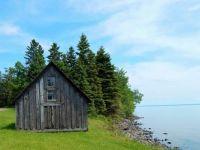Fishing shack, Lake Superior