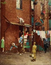 The Homecoming.  Norman Rockwell