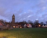 Jorwert, Friesland bij avond.