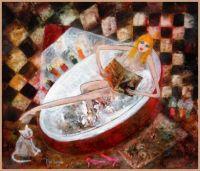 Rosa Sepple Artwork  -  'Bathe by Candelight'