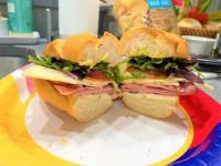 Sandwich with cold cuts and cheese