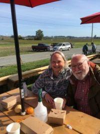 Grandmajojo and myself  at Michell's farm.