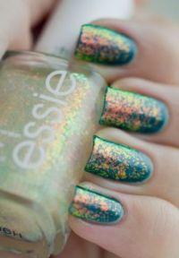 Rainbow Oil Opal Nails
