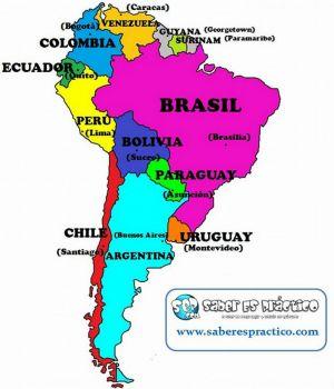 Mapa político de América del Sur (países y capitales) | 30 pieces ...