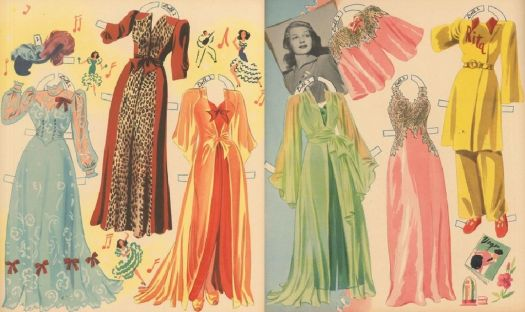 Paper Dolls  ~  Rita Hayworth  -  (last one of her clothing)
