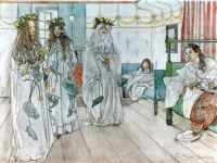 "Carl Larsson, ""Karin's Nameday"""