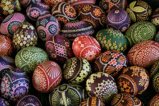 Easter Eggs, from Saxony, Germany