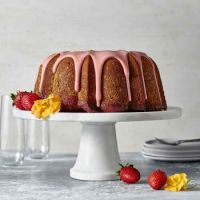 Strawberry Poke Pound Cake