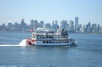 """Constitution"" Paddlewheeler on Burrard Inlet"