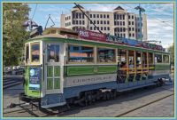 Tram in Christchurch, New Zealand