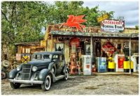 Vintage Car at Hackberry General Store on Route 66