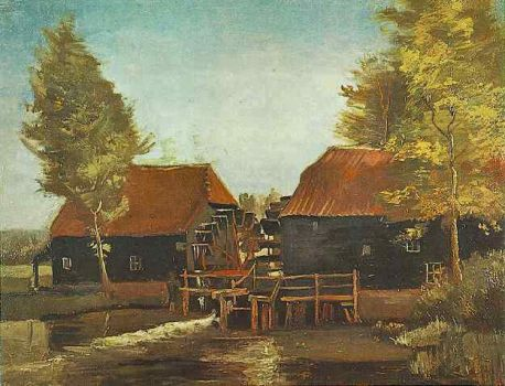 Water Mill at Kollen- Van Gogh, 1884