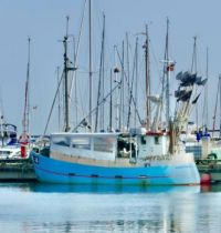 Pale Blue fishing boat