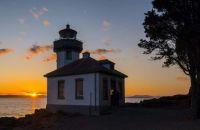 Lime Kiln Lighthouse, San Juan Island, Washington, late August 2021
