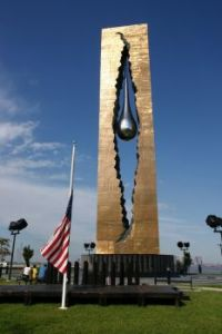 The Tear Drop Monument.