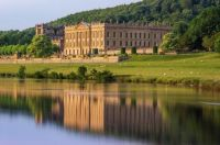 Chatsworth House, home of Duke of Devonshire located in Derby.