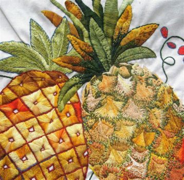 Beautiful Pineapple Embroidery